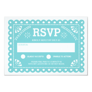 Papel Picado Wedding RSVP Card