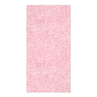 PAPER040 PINK FLORAL BACKGROUNDS GIRLY HAPPY SPRIN PHOTO GREETING CARD