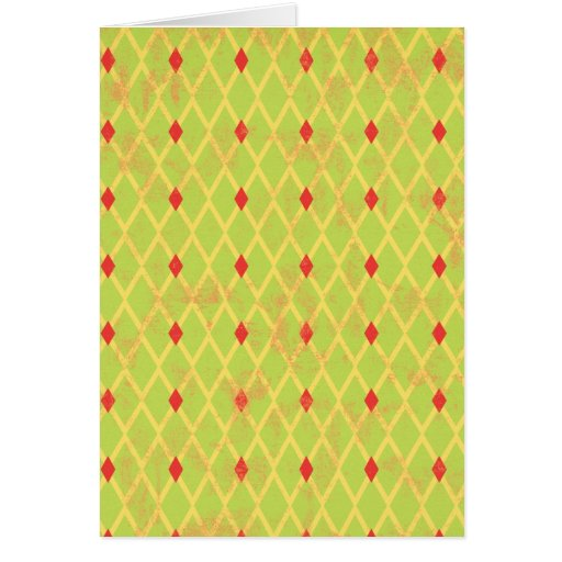 paper084 DIAMOND ARGYLE SPRING GREEN YELLOW RED PA Cards