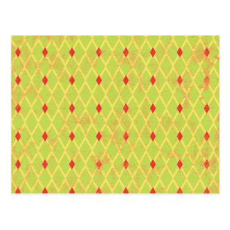 paper084 DIAMOND ARGYLE SPRING GREEN YELLOW RED PA Postcard