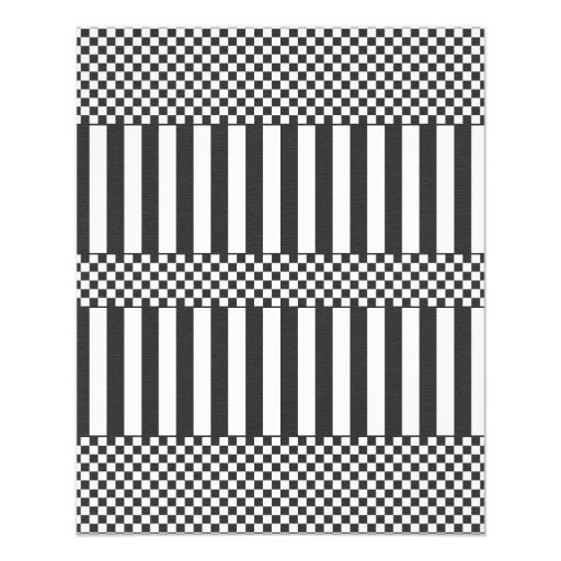paper567 BLACK WHITE ILLUSIONS BACKGROUNDS CHECKER Full Color Flyer