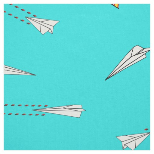 paper aeroplane dog fighters fabric