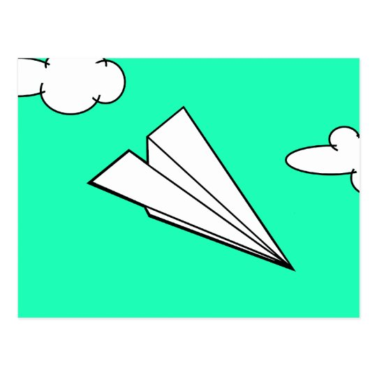 Paper Aeroplane in the Sky Postcard