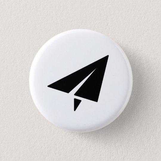 Paper Aeroplane Pictogram Button