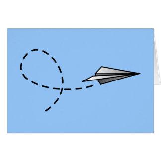 Paper Air Plane Card