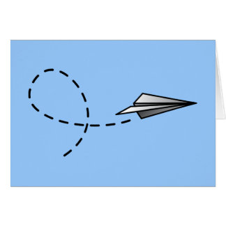 Paper Air Plane Greeting Card