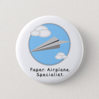 Paper Airplane - 6 Cm Round Badge