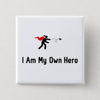 Paper Airplane Hero 15 Cm Square Badge