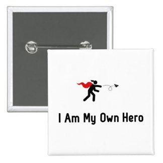 Paper Airplane Hero 15 Cm Square Badge