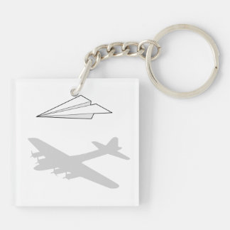 Paper Airplane Overactive Imagination Key Ring