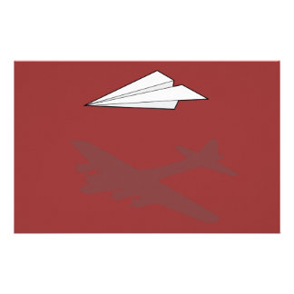 Paper Airplane Overactive Imagination Stationery
