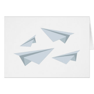 Paper Airplanes Greeting Card