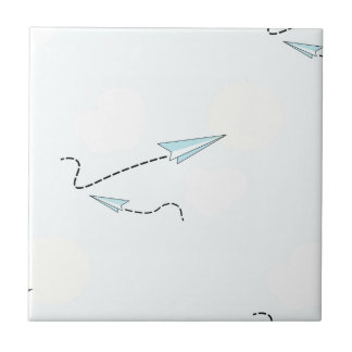 paper airplanes small square tile