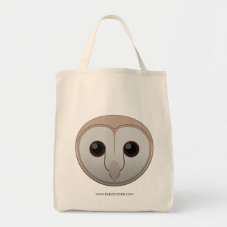 Paper Barn Owl Grocery Tote Bag