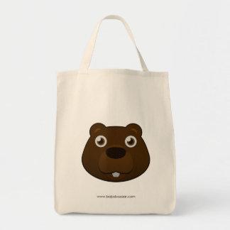 Paper Beaver Grocery Tote Bag