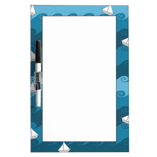 Paper Boats Pattern Dry Erase Boards