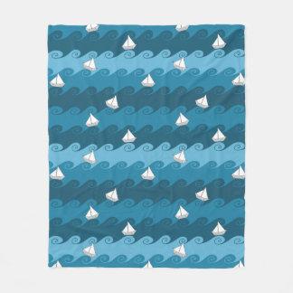 Paper Boats Pattern Fleece Blanket