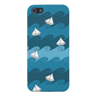 Paper Boats Pattern iPhone 5 Covers