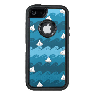 Paper Boats Pattern OtterBox iPhone 5/5s/SE Case