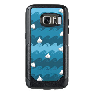 Paper Boats Pattern OtterBox Samsung Galaxy S7 Case