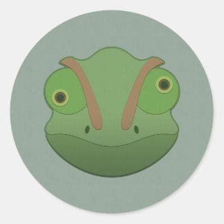 Paper Chameleon Classic Round Sticker