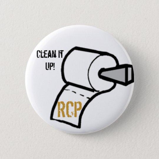 paper, Clean It Up!, 6 Cm Round Badge