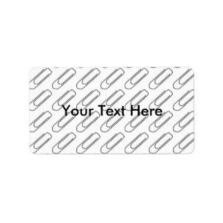 Paper Clip Address Labels