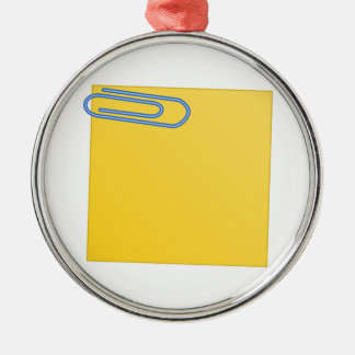 Paper Clip and Note Ornament