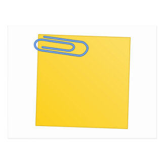 Paper Clip and Note Post Card