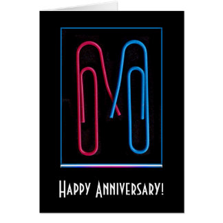 paper clip anniversary greeting card