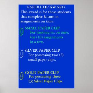 Paper Clip Award Poster