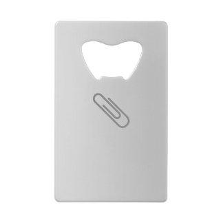 Paper Clip  Credit Card Bottle Opener