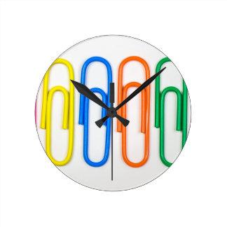 paper clip design round clocks