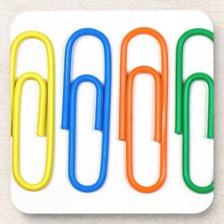 paper clip design coaster