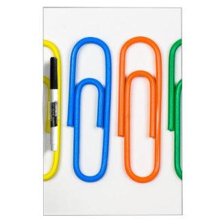 paper clip design dry erase board