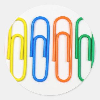paper clip design round sticker