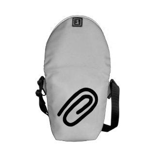 Paper Clip Messenger Bags