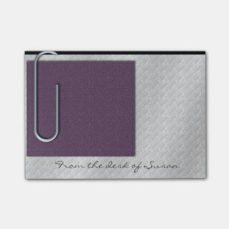 Paper Clip Note Plum Post-it® Notes