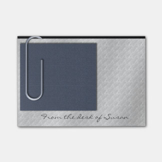 Paper Clip Note Slate Blue Post-it® Notes