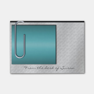 Paper Clip Note Turquoise Post-it® Notes