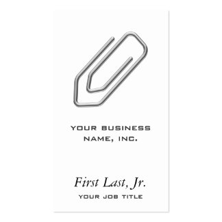 Paper Clip Pack Of Standard Business Cards