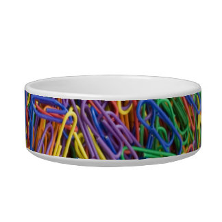 Paper Clips Background Cat Bowl