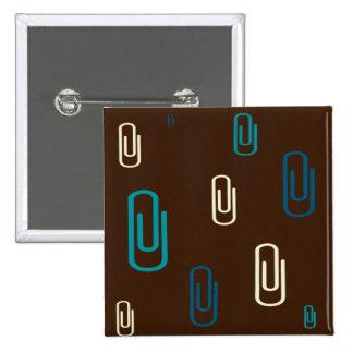 Paper Clips 15 Cm Square Badge