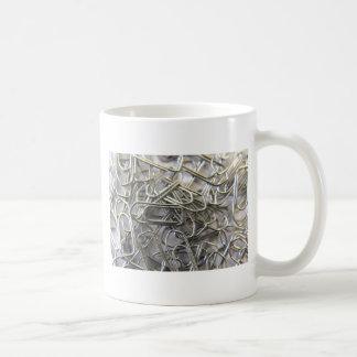 Paper clips basic white mug