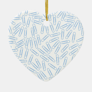 Paper Clips Ceramic Heart Decoration
