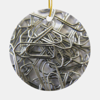 Paper clips christmas ornament