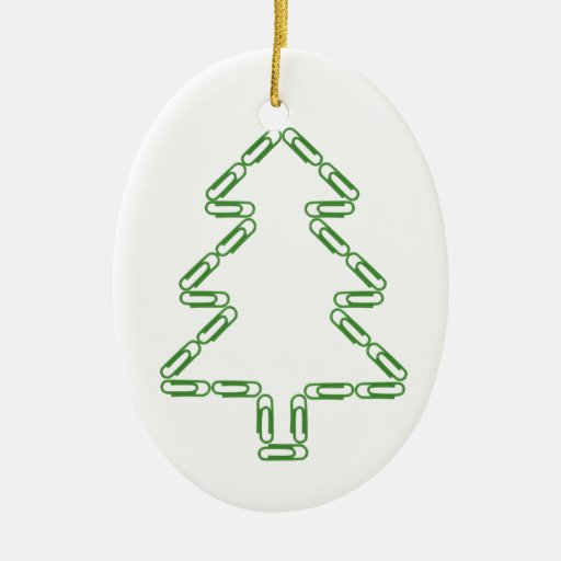 Paper Clips Christmas Tree Ornament