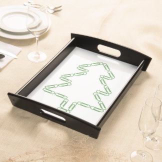 Paper Clips Christmas Tree Serving Tray