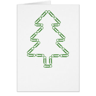 Paper Clips Christmas Tree Template Greeting Card
