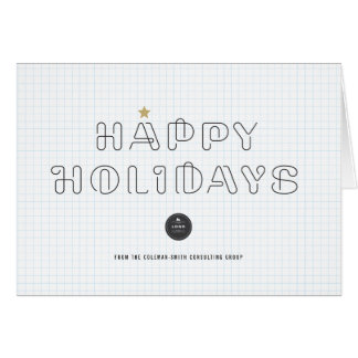 Paper Clips Happy Holidays Corporate Greeting Card